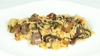 Говядина тушеная с рисом и овощами   Блюда из говядины   Вкусные рецепты с говядиной