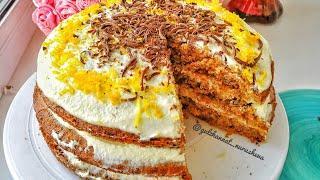 Морковный торт. Сәбіз торты рецепт.