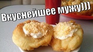 Лангош венгерская лепешка.Безумно вкусная с чесночным соусом и сыром.
