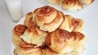 Сдобные домашние булочки,мягкие,вкусные. Простой рецепт