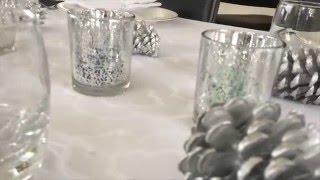 Легкие,полезные закуски.....  сервируем стол в стиле - Снежный лес