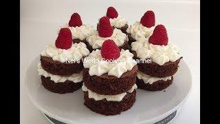 Mini Chocolate Cakes - Մինի շոկոլադե տորթեր - Шоколадный мини-торт