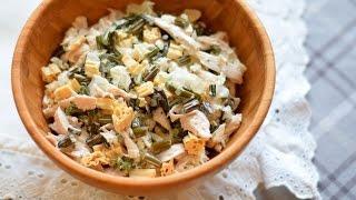 Новогодний салат с морепродуктами и курицей (на праздничный стол) / Salad with seafood