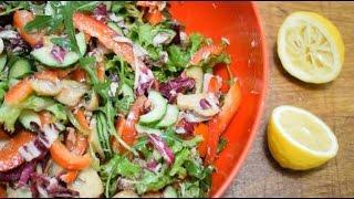 Легкий овощной салат с тунцом. Рецепт от club-cook