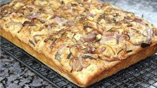 Невероятно вкусная ФОКАЧЧА с карамелизированным луком,розмарином и чесноком. Итальянская кухня.
