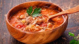 Суп ХАРЧО из баранины очень вкусное блюдо классический рецепт Вкусняшка TV