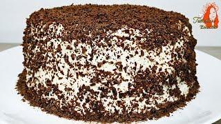 Торт за 15 минут вместе с выпечкой  Просто и очень вкусно!
