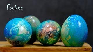 Пасхальные яйца как наша планета «Земля»! Как покрасить яйца на Пасху красиво и необычно! Пасха 2019