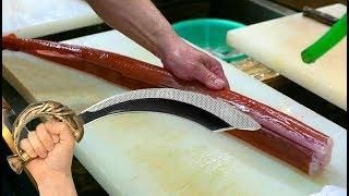 Япония Морепродукты - Сашими из Рыбы Труба,Мастер Класс от Японского Шеф-Повара