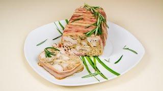 Мясной Террин (свинина, индейка, курятина, бекон) / рецепт на праздничный стол