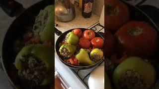 Азербайджанская кухня готовим ОВОЩНОЙ ДОЛМА (светофор)