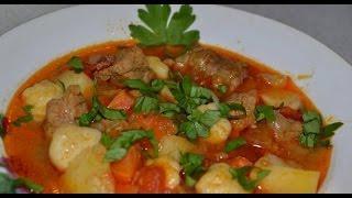 Бограч-гуляш - сытная и питательная венгерская еда