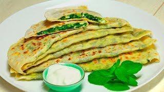 Кутабы с зеленью и сыром. Азербайджанская кухня. Рецепт от Всегда Вкусно!