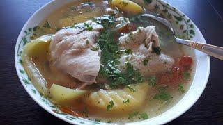 ВКУСНО И ПРОСТО КУРИНЫЙ СУП(куриный бульон)chicken soup