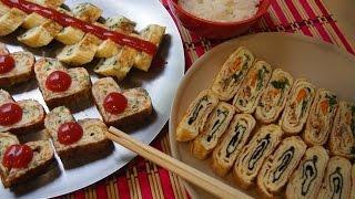 Корейская кухня: корейский омлет или Керан мари (계란말이) 4 варианта