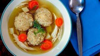 Куриный суп с шариками из мацы