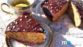 Кекс изюмный с шоколадной глазурью. #cake #выпечка #вкусняшки #yummy #pastel