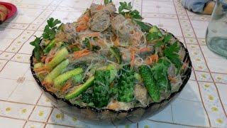 Корейская кухня, Салат ПО-КОРЕЙСКИ С ФУНЧОЗОЙ