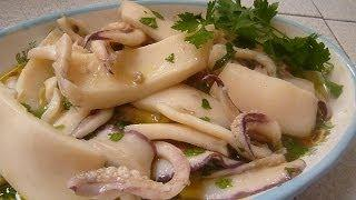 Салат из Каракатицы Insalata di Seppie Salad of Cuttlefish | Морепродукты