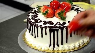 Украшение тортов | Как просто украсить торт на день рождение своими руками
